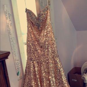 Tiffany Designs Dresses - Gold/Champagne Prom Dress!